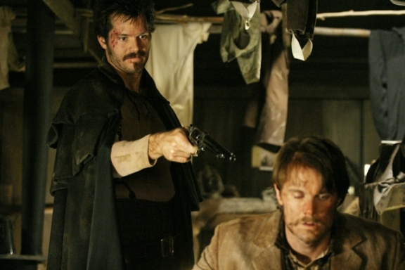 Timothy Olyphant and Garret Dillahunt in Deadwood Season One