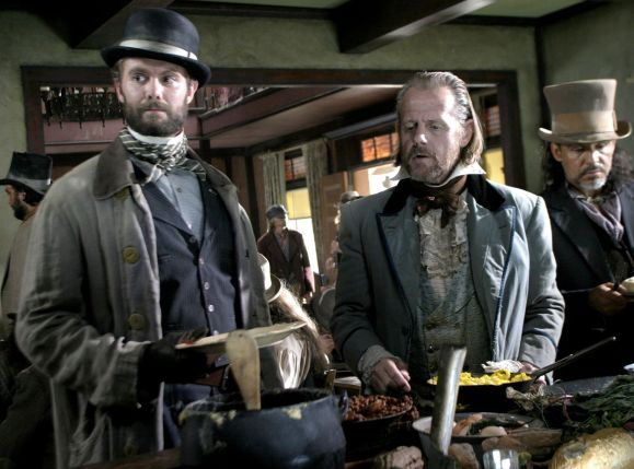Garret Dillahunt and William Sanderson in Deadwood