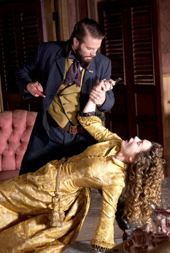 Garret Dillahunt and Alice Krige in Deadwood