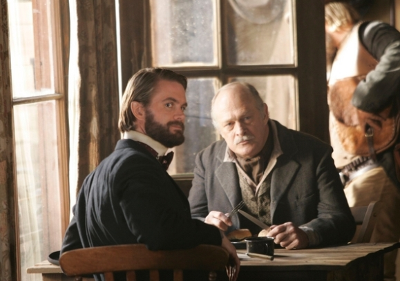Garret Dillahunt and Gerald McRaney in Deadwood