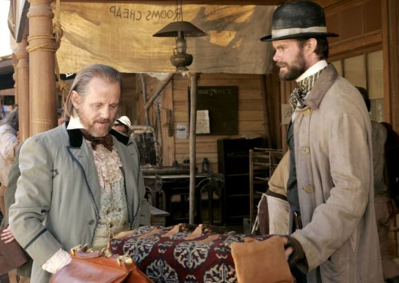 William Sanderson and Garret Dillahunt in Deadwood