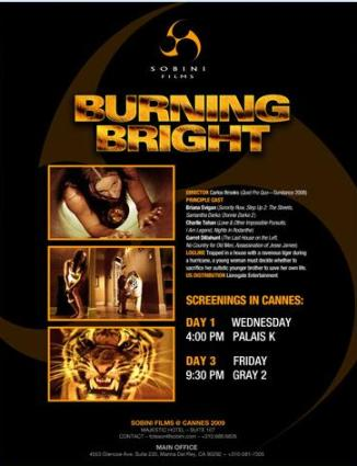 Burning Bright Cannes poster