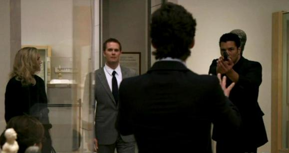 Sarah Wynter, Garret Dillahunt and Matt Bomer in White Collar